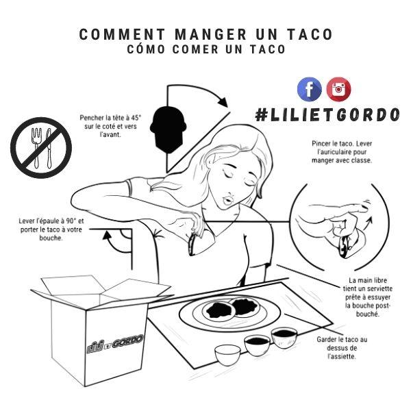 Comment manger un tacos