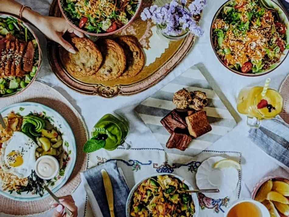 Table avec les recettes de Mandy's