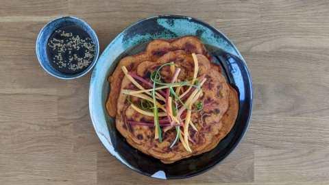 pancakes coréens dindon légumes
