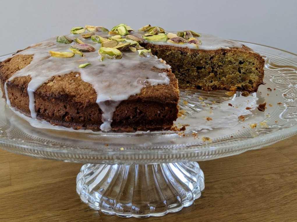 Gâteau sans gluten pistache citron Sabrina Guayour