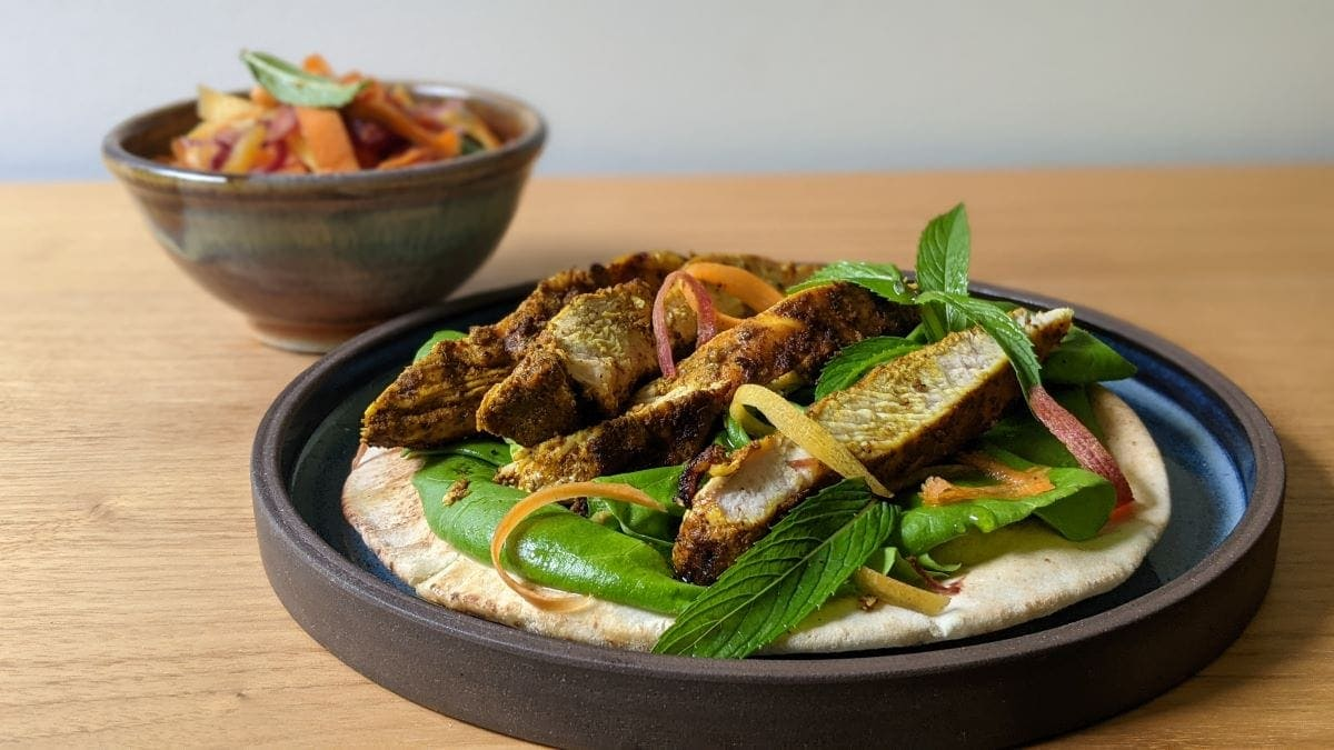 poitrine dindon Sharwama et salade de carottes