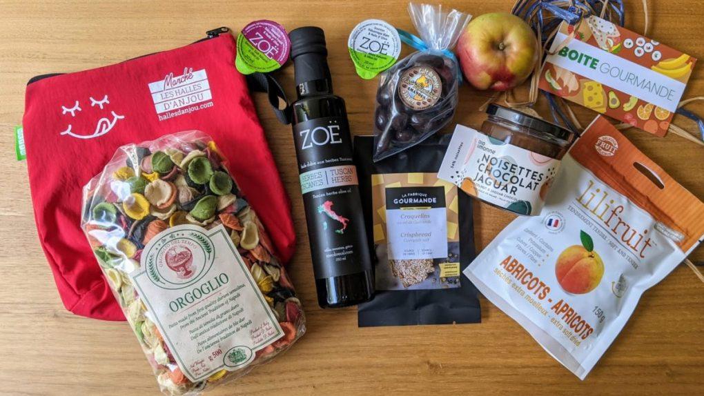 produits locaux et internationaux  du marché Halles Anjou