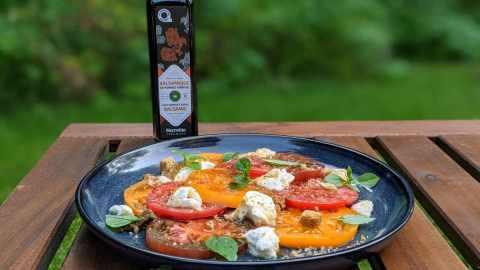 salade de tomates ancestrales colorées balsamique pommes surette