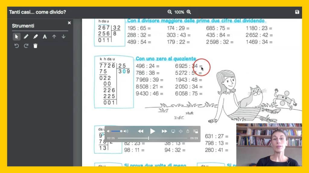 Divisioni con due cifre al divisore, scheda