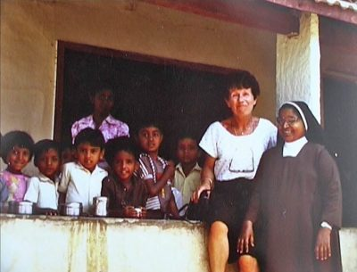 photo de Mme Loudet à l'école de Ganjam