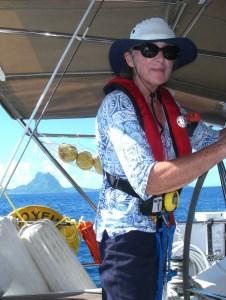 10. Anne was at Joyful's helm as Bora Bora called a warm Polynesian welcome to Joyful.