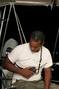 12a. Joyful's excellent advisor with his radio which he used to talk with Panama Canal controllers.