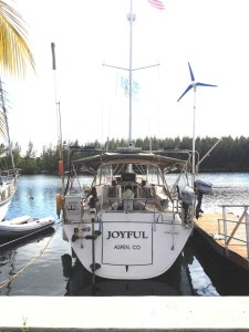 20. Joyful's stern view at Key West.
