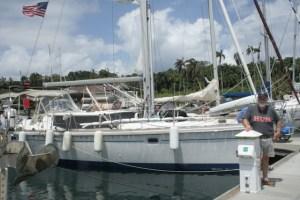 29. Joyful & Bill at Shelter Bay Marina, Panama.