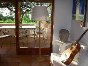 43. Anne took her guitar to Garrick's villa in Bora Bora.