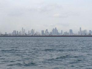 5. View of Panama City fom Isla Flamenco.