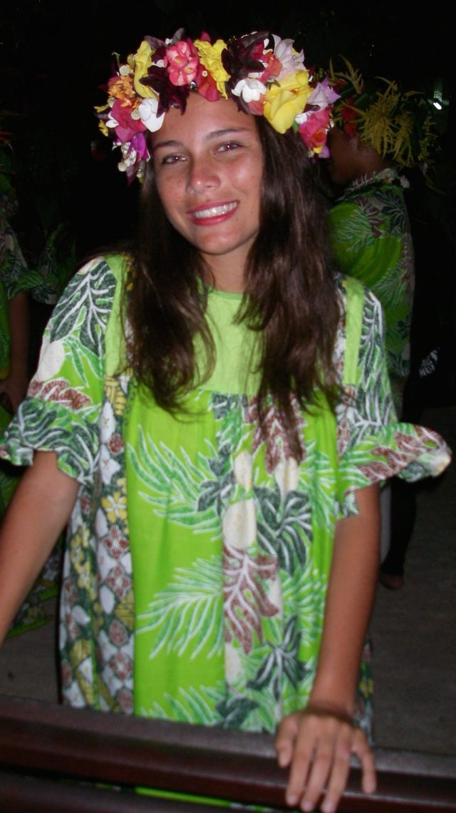 12. The beautiful young Tamatea at the Faanui Chant (himene - singing) finals