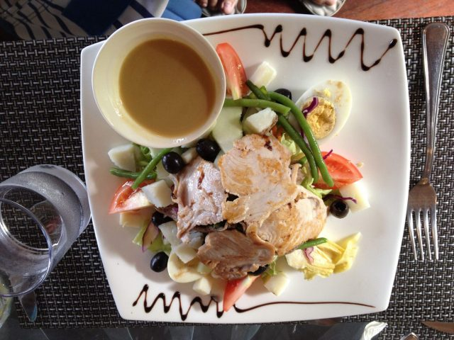 41. In Bora Bora, we enjoyed eating both traditional Polynesian foods as well as French dishes like this scrumptious salade Niçoise.
