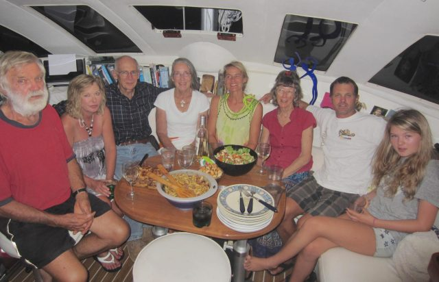 50. Every person in this photo are sailing missionaries! We call ourselves, %22Sailors for Christ%22. This photo was taken on Sea Angel in Bora Bora. Everyone except Karen (2nd from left) was on Joyful for a music ministry afternoon tea in Tonga!