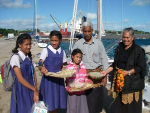 0.0. A main blessing of our Tongan visit was our friendship with Soakai, Ana, Kilisitina, Otolose, and Tiara. Minutes before we sailed away, we all prayed to the Lord together, and they and we asked God to give us all His hedge of protection