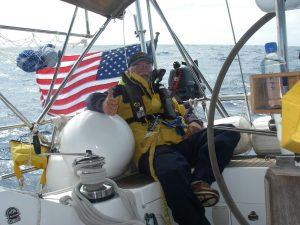 11. Crewmember Bill was warm and protected in his foul weather gear. The temperature did become lower, especially around midnight and beyond