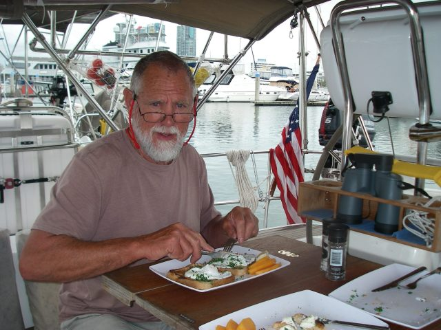 22.4. While in Southport, Rod made Joyful's new favorite breakfast:lunch:dinner, poached eggs on toast