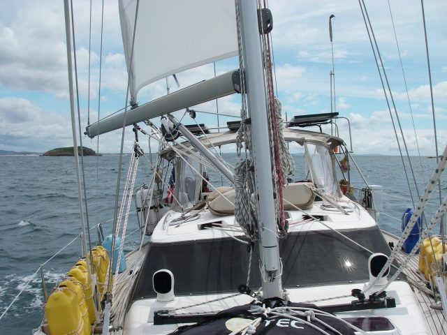 56.9. We sailed Joyful between some of the many islands on the east coast of Australia in the Coral Sea.