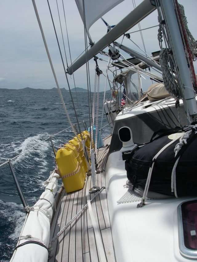 65. Joyful sailed by many stunning islands and beaches on the way south to Pittwater.