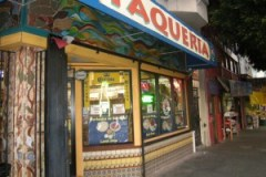 UNPROMISING TAQUERIA: A restaurant in the Mission. A worker said the restaurant sales had dropped due to the economic turmoil.
