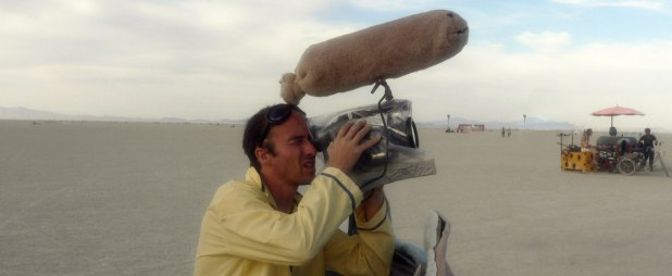 """Olivier Bonin while filming """"Dust and Illusions."""""""