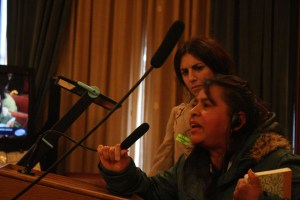 Juana Teo of PODER speaks to the committee.