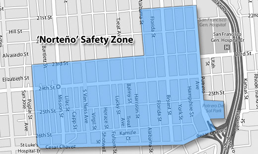 "The ""safety zone"" is where the injuction is in place."