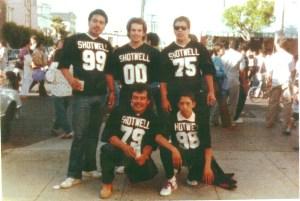 Shotwell football team. Peña on lower right. (Louis Lucero)