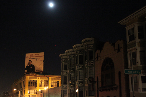 As of 8 p.m. the entire block on 17th Street between Valencia and Mission Streets was without power