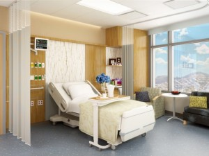 Sample room in UCSF Hospital.