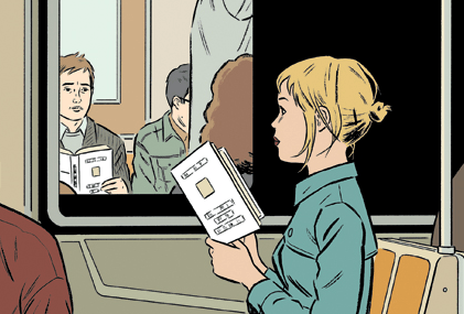 Detail from a 2004 New Yorker cover by Adrian Tomine