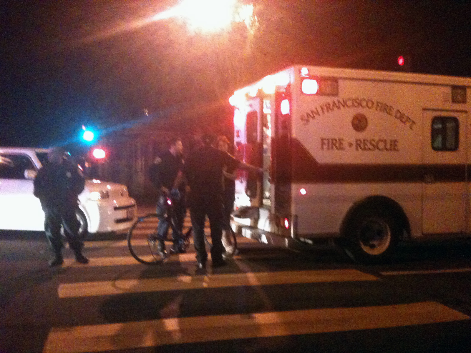 The intersection of 22nd St. and Dolores, where a cyclist was hit by a driver.
