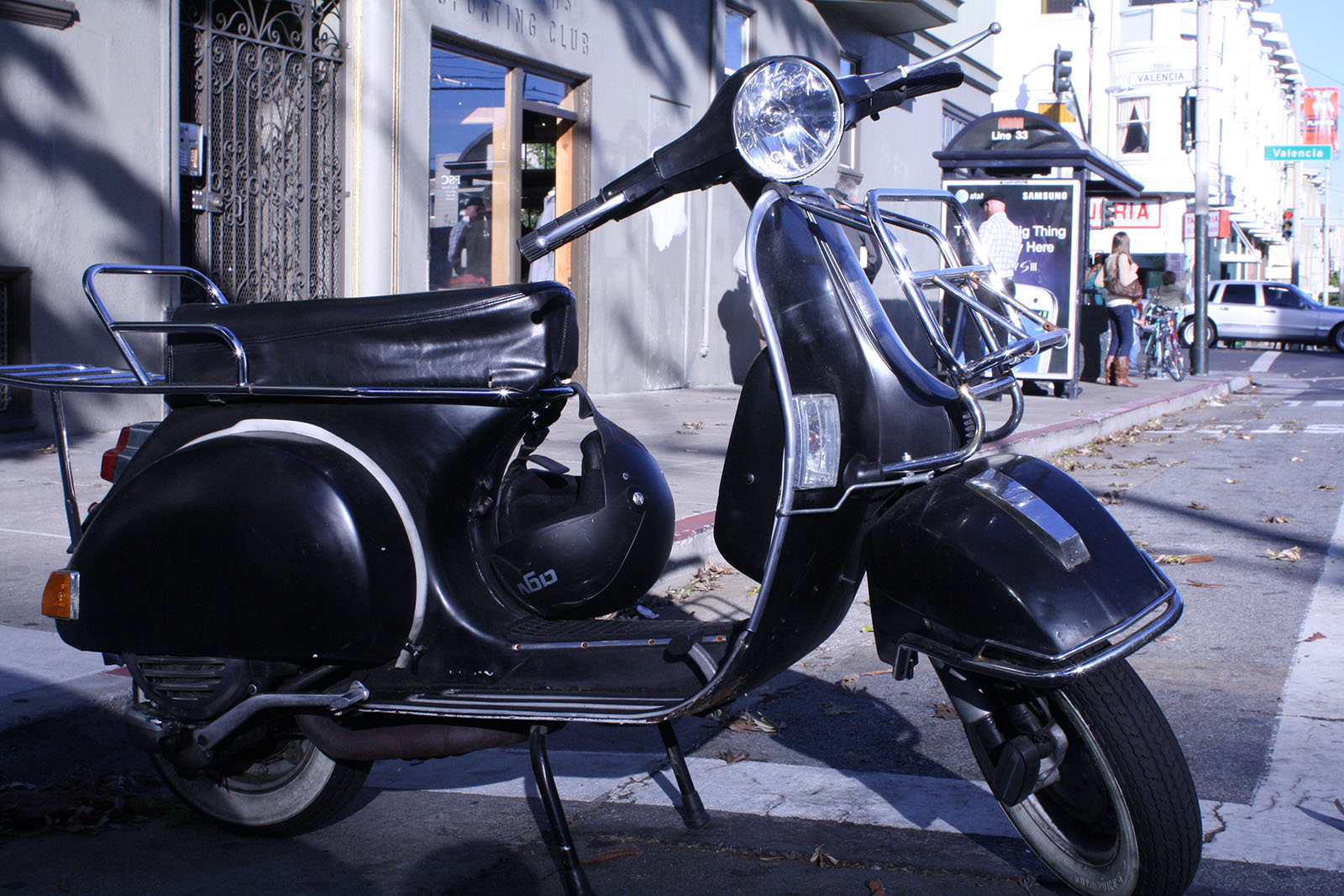 A vintage Vespa in the Mission.