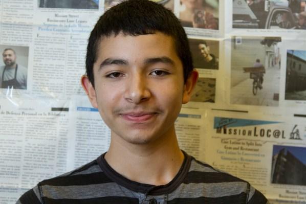 8th grade student Yhossefath Patiño.