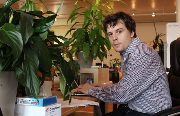 Lucas Biewald, director de CrowdFlower en su oficina en el Distrito de la Misión.