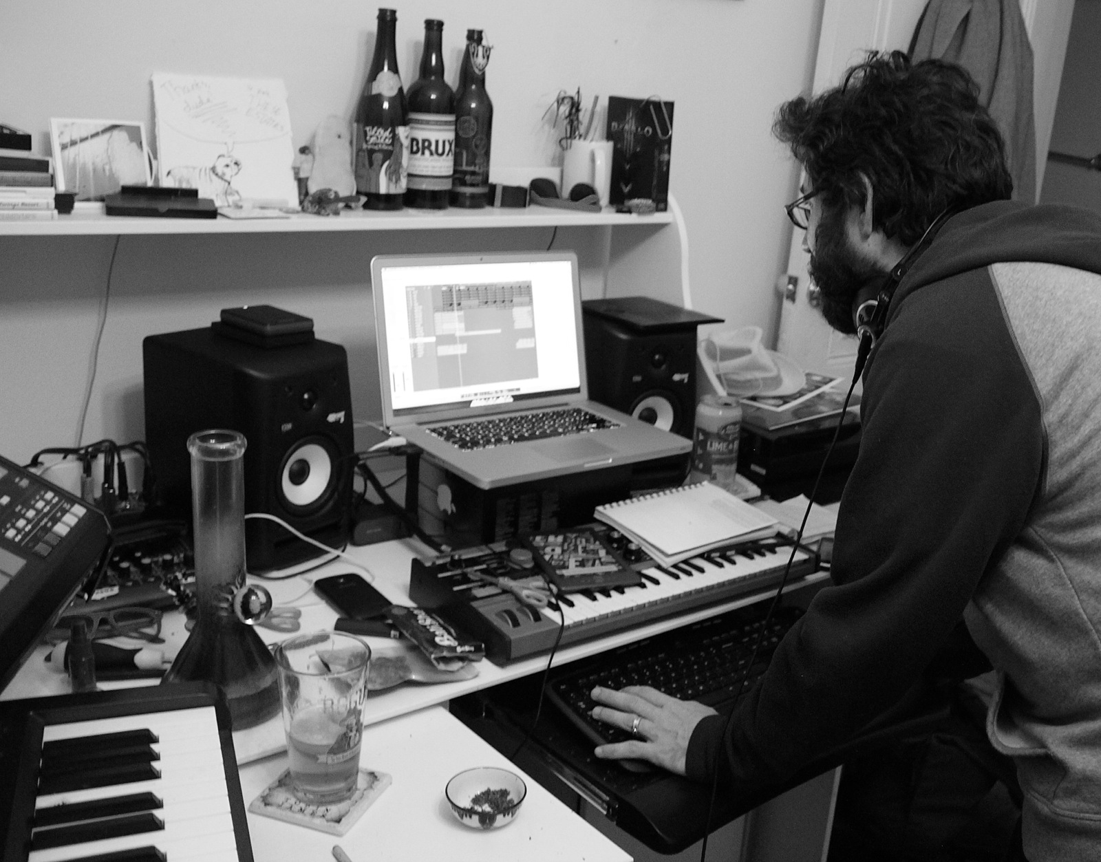 Satellite High, aka Jay Friedman, in his home studio.