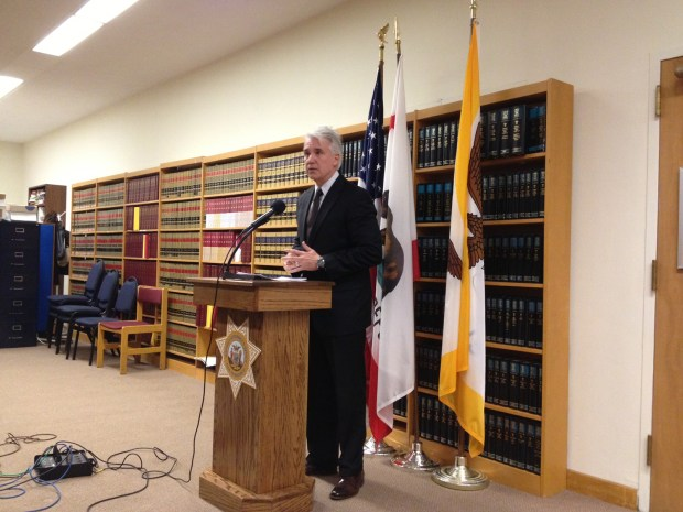 District Attorney George Gascón announces the charges of collision suspect David Morales. Photo by Carly Nairn.