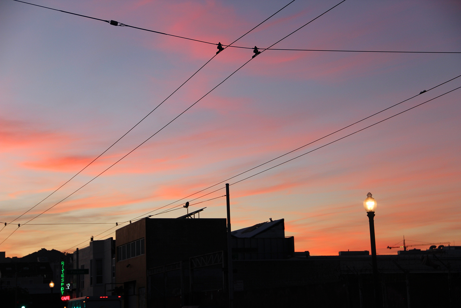 The sunset from 17th Street.