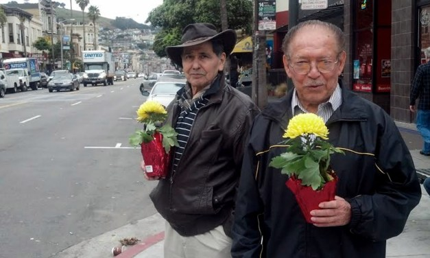SNAP: Men With Matching Flowers