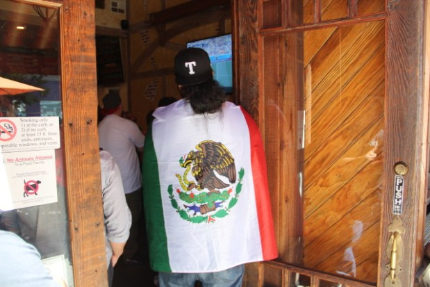Some fans of Mexico went all out. Photo by Joe Rivano Barros.