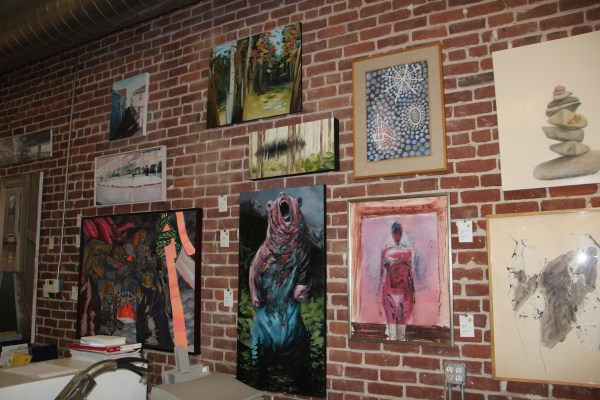 More of the paintings in ArtZone 461. Photo by Joe Rivano Barros.