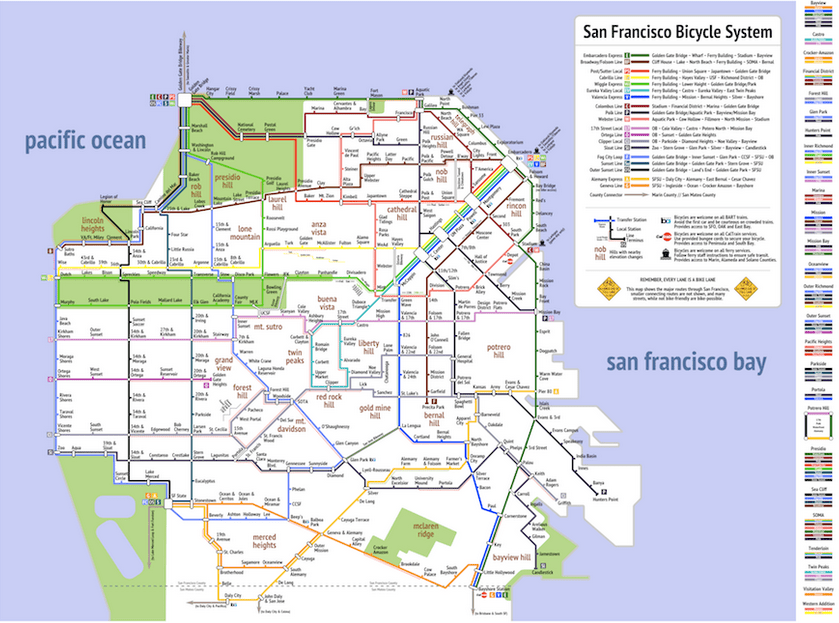 This Is Your To Go Bike Map Mission Local - San francisco bike map