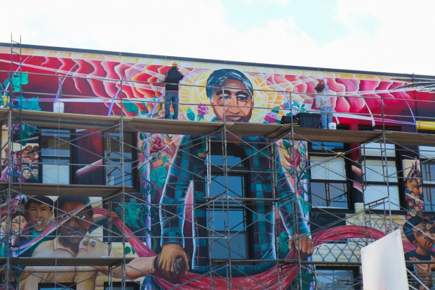 Mural at Chavez Elementary. Photo by Claire Weissbluth.