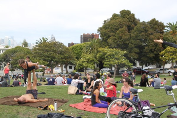 Other than that, Dolores Park was pretty typical for a sunny Saturday. Photo by Joe Rivano Barros.