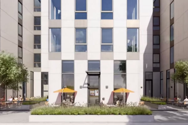 Rendering of potential ground floor space at 1515 15th Street. Photo from promotional video by Polaris Pacific.