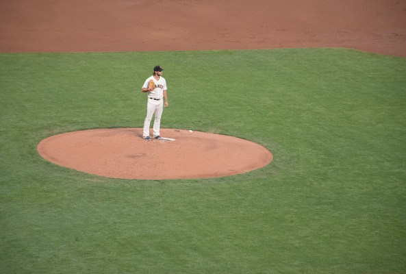 Madison Bumgarner won 4 games and posted a 1.57 earned run average. Photo by Lola M. Chavez