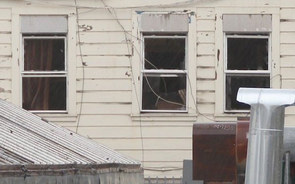 Holes in Security at Fire-torn Building