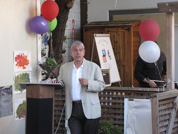 MNC's executive director Sam Ruiz speaks at a press conference. Photo courtesy of MNC