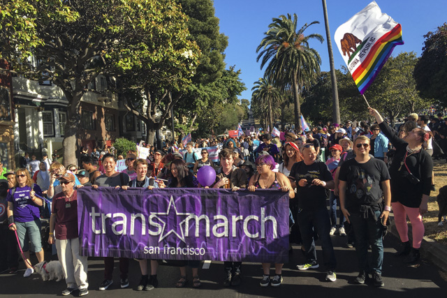 SF Trans Celebration Boos Pols and Says No to More Police