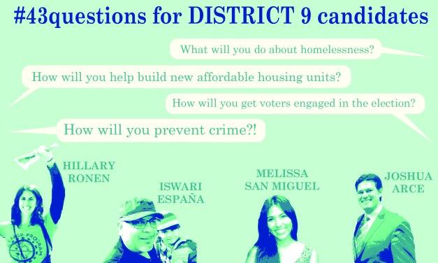 Pregunta Final a los Candidatos del Distrito 9